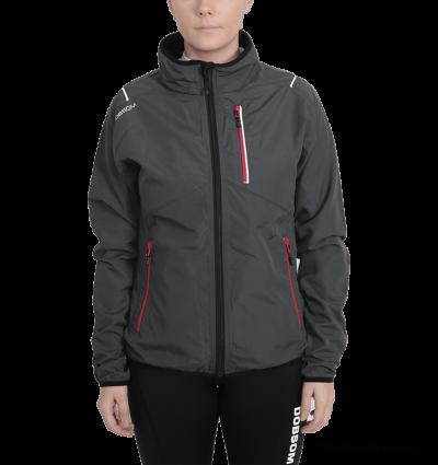 Dobsom Zink Jacket Woman Graphite on naisten juoksutakki, joka soveltuu erinomaisesti harjoitteluun kuin vapaa-aikaankin. Kevyeltä ja mukavalta tuntuva takki on Ruotsissa valmistettu.