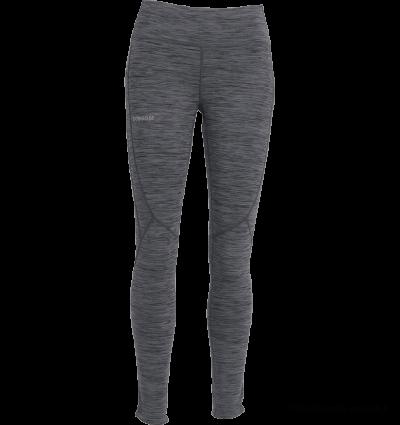 Dobsom Tornio Tights Woman Grey Melange juoksutrikoot ovat näyttävät ja hyvin istuvat. Mukavuutta ja istuvuutta lisää litteät saumat ja leveä vyötärönauha.