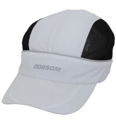 Naisten lippalakki Dobsom Running Cap White on hyvin hengittävä ja miellyttävä pitää päässä.