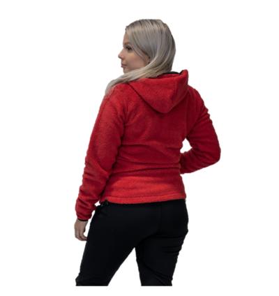 Hedley jacket, naisten punainen teddy-takki