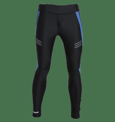 Dobsom Nerja Tights juoksutrikoot miehille soveltuu harjoitteluun ja ovat miellyttävät sileän materiaalin vuoksi. Heijastavat yksityiskohdat tuovat turvallisuutta harjoitteluun.